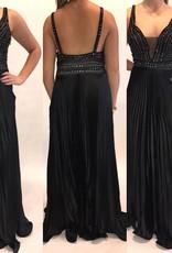 145Size 12 Alberto Makali Beaded Gown