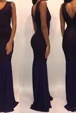 152Size 2Lucci Lu Purple Bandage Gown with Chiffon Detail