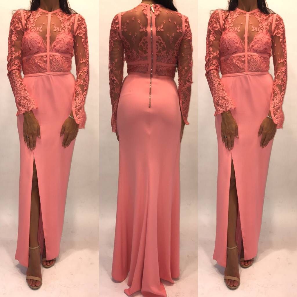 156	Size 38	Eli Saab Pink Lace Gown