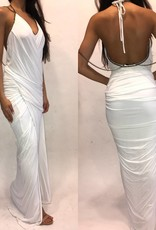 164	Petite Donna Karen Grecian Chain Drape Dress