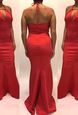 170	Size 8 Zac by Zac Posen New w Tags Mermaid Red Halter Gown New W Tags