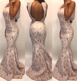 Size 2	Jean Paul Ataker	Blush Mermaid Gown	Worn Once