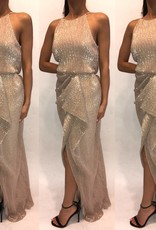 186Size 2 Badgley MischkaGold Gown Worn Once