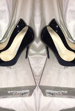 1010 Size 37 1/2	Jimmy Choo	Black Patent Anouk Pump	Worn Once