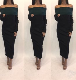 175	Au 10 Emilio de La Morena Off Shoulder Midi Dress Worn Once