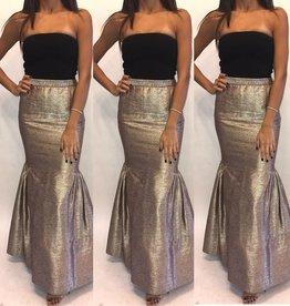 218Size 6 Peter Som  Metallic Mermaid Maxi Skirt Worn Once