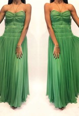 219	Size 38	Chloe Green Silk Pleated Tube Gown	Worn Once