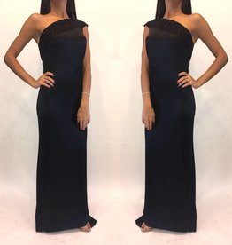 205Size 4 Eric GaskinsOne Shoulder Gown Worn Once