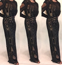 195	Size 8 BCBG Two Tone Veira Gown Worn Once