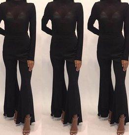 Essue LP71411 Wave Black Trouser Size Medium