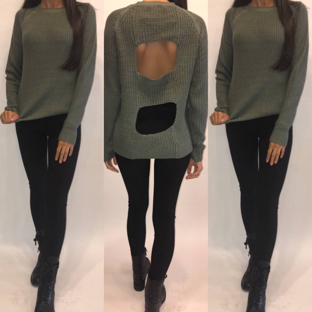 BBdakota JH 306183 BBDAKOTA by JACK Percival Sweater Olive Green