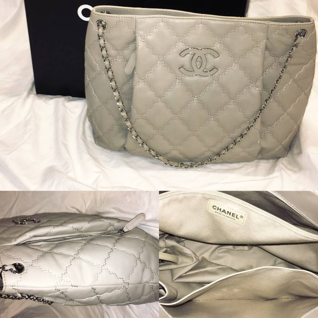 5010ChanelGrand Light Grey Shopper with Box and TagsGently Worn
