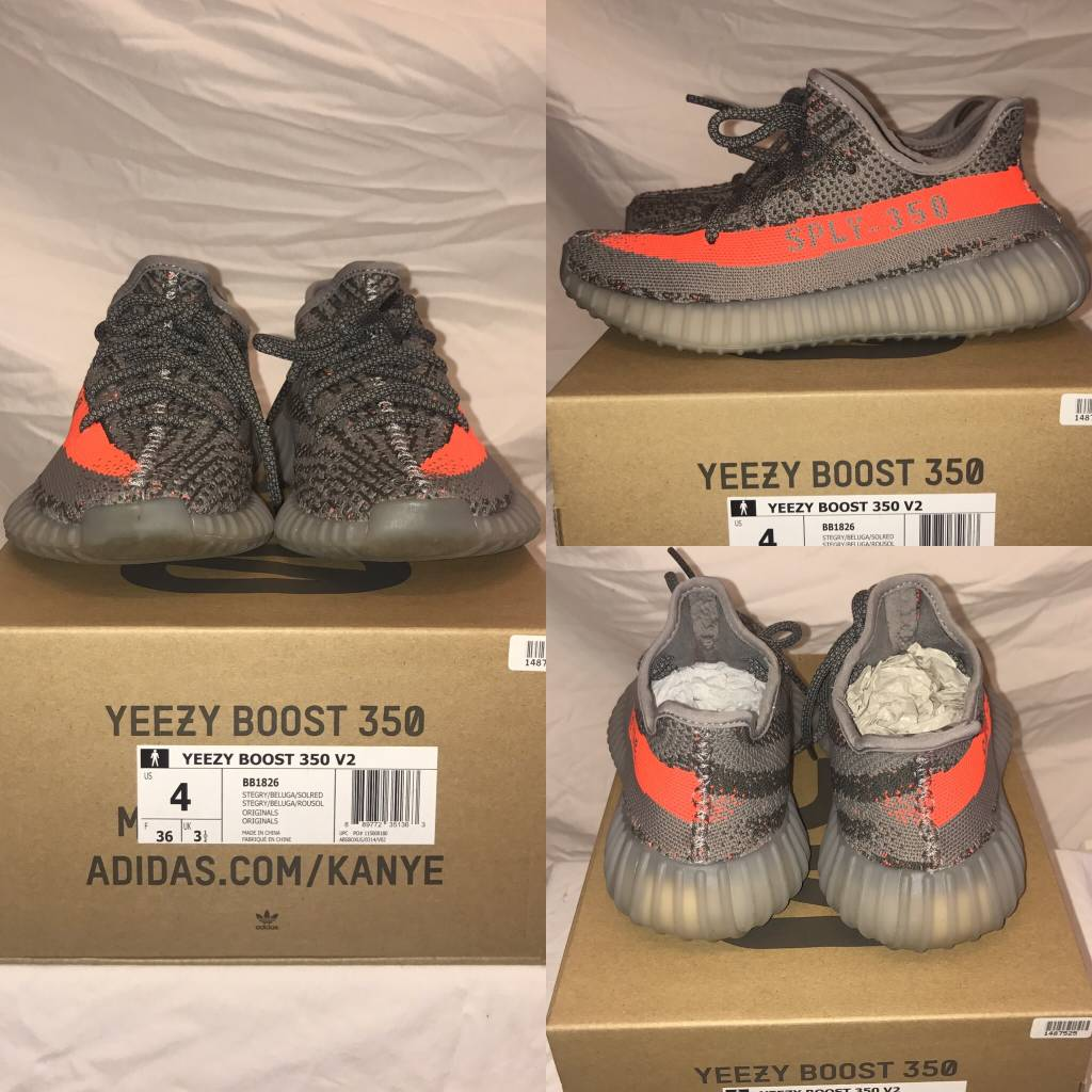1028	Size 4	Yeezy	350 Yeezy Boost	New in Box