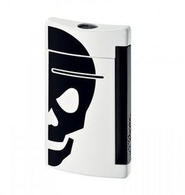 S. T. Dupont | Mini Jet | Lighter | White with Black Skull 10056