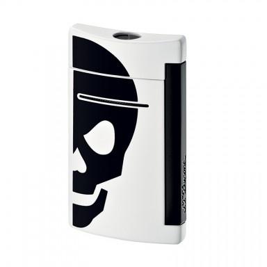 S. T. Dupont | Mini Jet | Lighter | White with Black Skull 10056