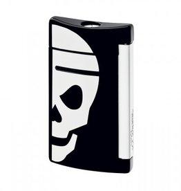 S. T. Dupont | Mini Jet | Lighter | Black with White Skull 10055