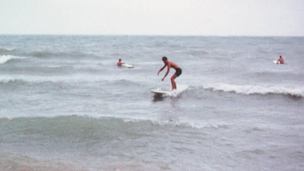 Lake Michigan Sliding Circa 1969