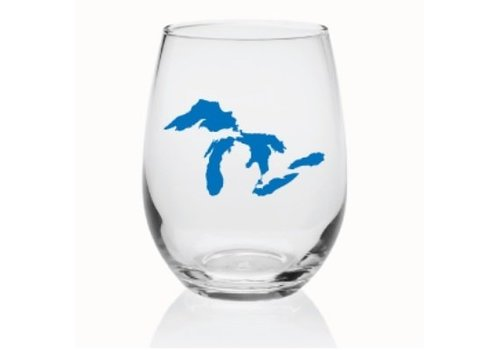 Great Lakes Stemless Wine Glass