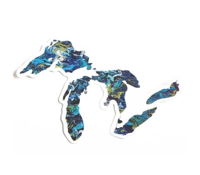Great Lakes Art Sticker