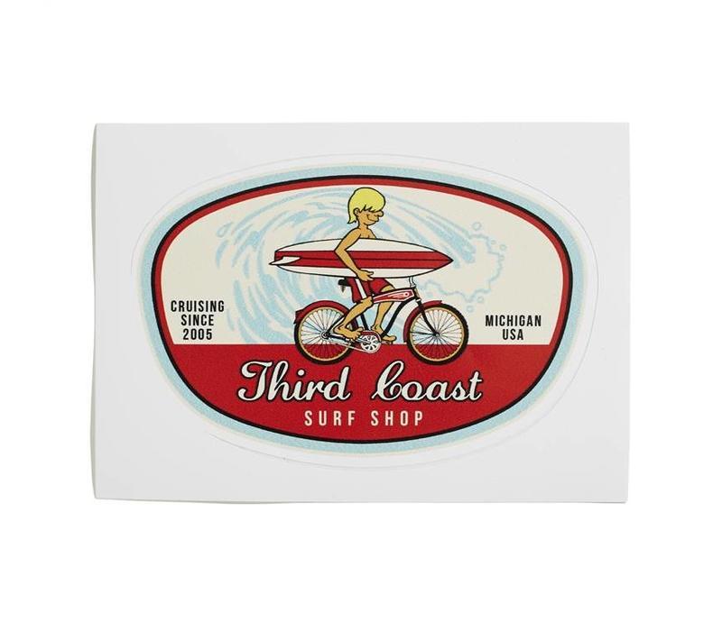 Third Coast Surf Bike Sticker