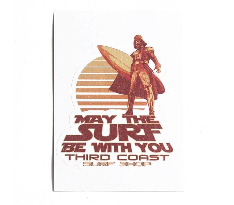 Third Coast Vader Surfs Sticker