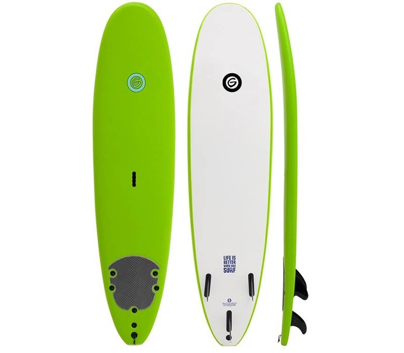 Gnaraloo 7'6 Soft Top Green