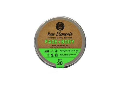 Raw Elements Raw Elements Tin Eco Formula Face and Body 3oz