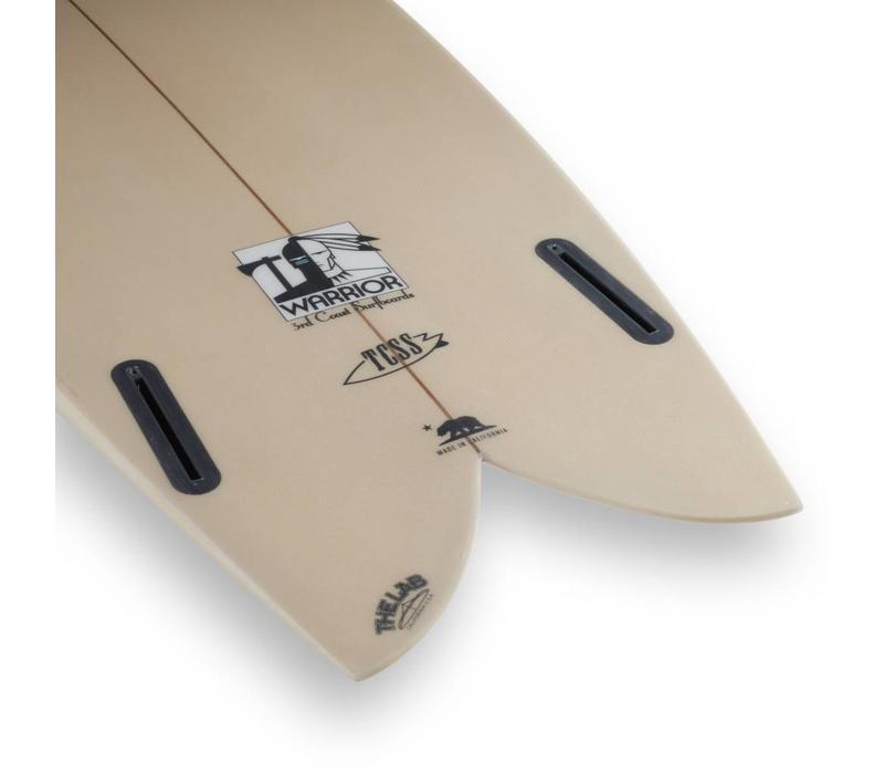 3rd Coast Surfboards 6'2 Warrior V6 Tan & Blue
