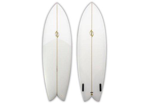 Bing Surfboards Bing 6'4 Sunfish/Rasta Clear