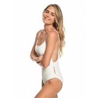 Roxy Surf Memory One Piece Swimsuit Marshmallow