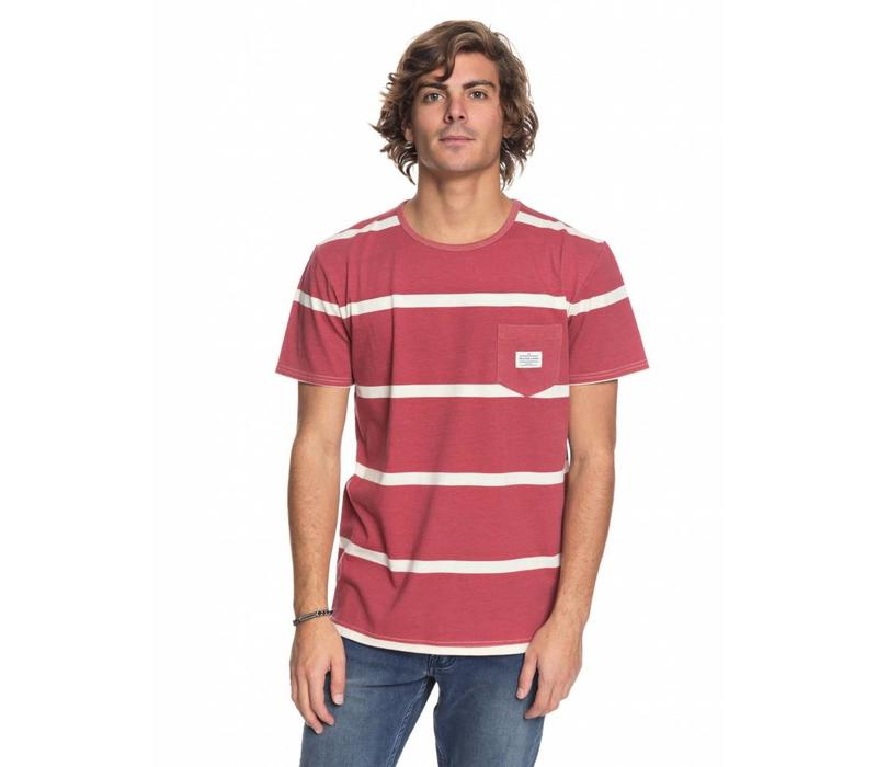 Quiksilver New Maxed Pocket Tee Mineral Red