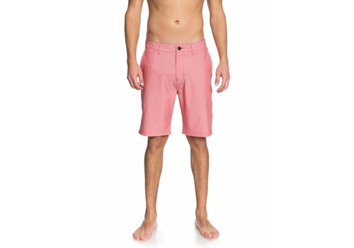 "Quiksilver Quiksilver Union Pinstripe 20"" Amphibian Shorts Mineral Red"