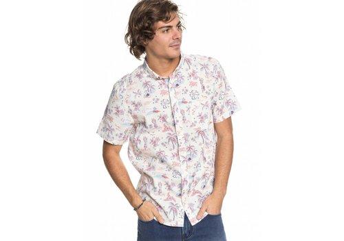 Quiksilver Quiksilver Black Hula Short Sleeve Shirt Birch