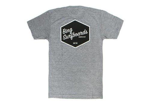 Bing Surfboards Bing Hex Premium S/S T-Shirt Heather Grey