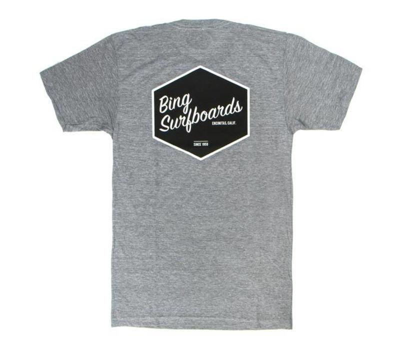 Bing Hex Premium S/S T-Shirt Heather Grey