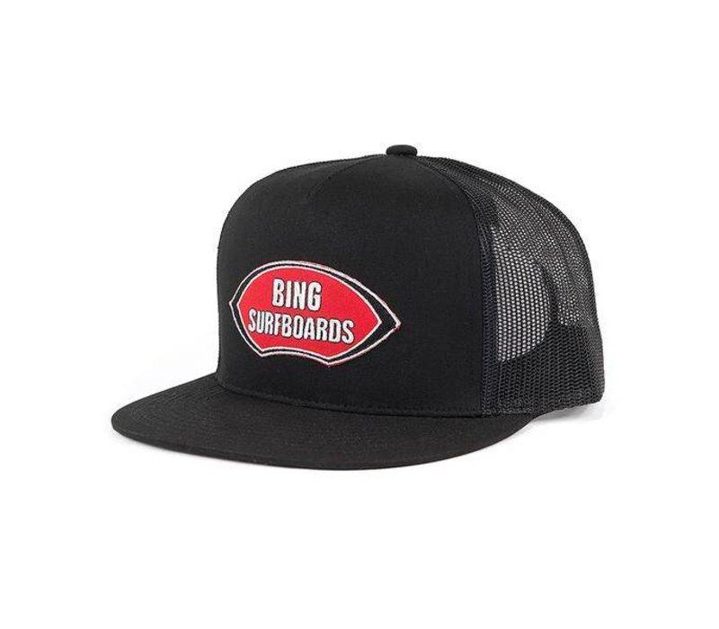 Bing Noserider Patch Premium Trucker Black