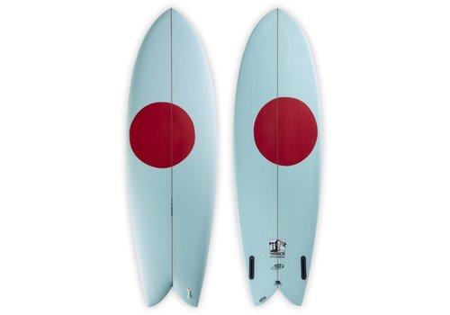 Third Coast 3rd Coast Surfboards 6'0 Warrior V6 Teal/Red Dot