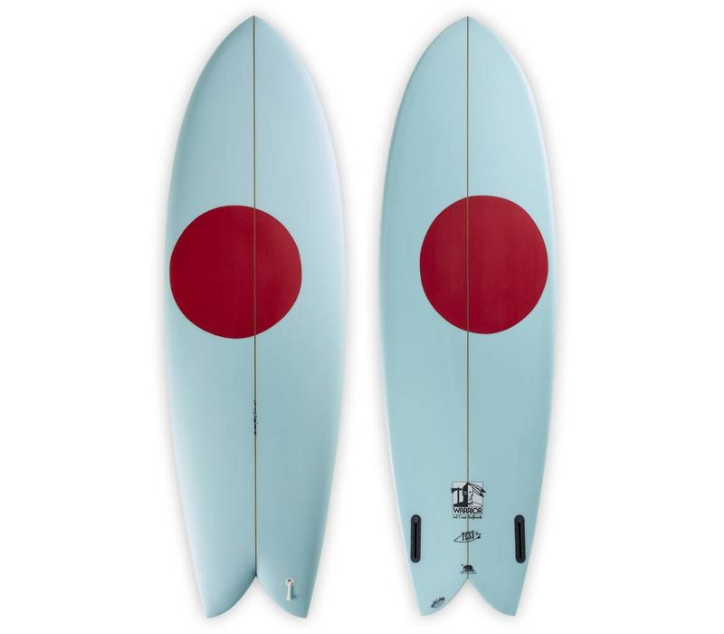 3rd Coast Surfboards 6'0 Warrior V6 Teal/Red Dot