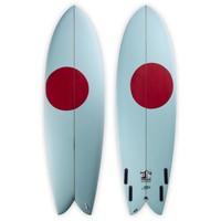 3rd Coast Surfboards 6'4 Warrior V6 Teal/Red Dot
