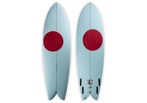Third Coast 3rd Coast Surfboards 6'4 Warrior V6 Teal/Red Dot