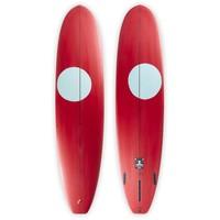 3rd Coast Surfboards 8'0 Medicine Man V6 Red/Teal Dot