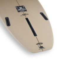 3rd Coast Surfboards 7'6 Medicine Man V6 Tan/Teal Dot