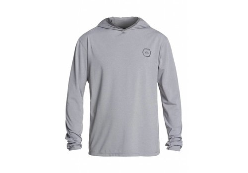 Quiksilver Quiksilver Amphibian UPF 50 Hooded Rashguard Sleet Heather
