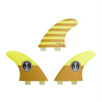 Captain Fin CF Small Twin Tab Yellow