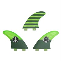 Captain Fin CF Medium Twin Tab Green