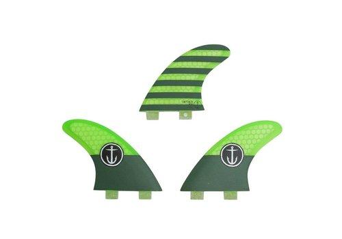 Captain Fin Co. Captain Fin CF Medium Twin Tab Green