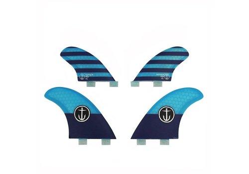 Captain Fin Co. Captain Fin CF Quad Twin Tab Blue