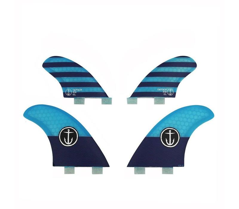 Captain Fin CF Quad Twin Tab Blue