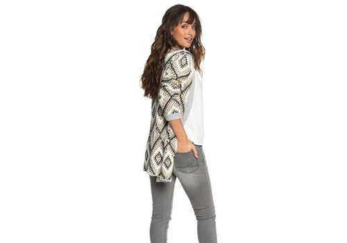Roxy Roxy All Over Again Knitted Cardigan Heritage Heather
