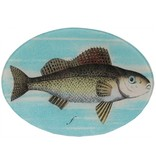 Painted Fish F Oval